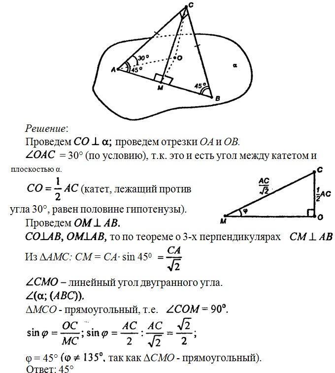 Решение задач под углом 10 класс алгебра логики задачи решения
