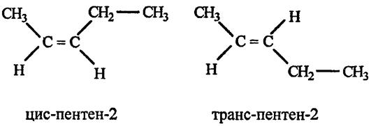 Пентен 2 цис и транс изомеры