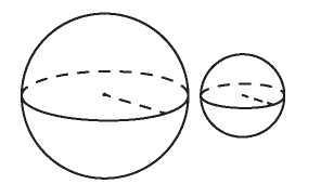 даны два шара с радиусами 3 и 1 механиков сказал, что
